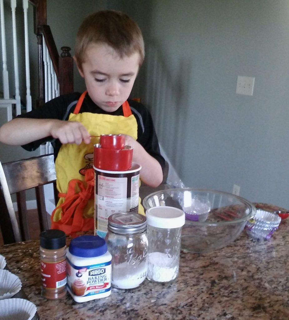 Child cooking on his own